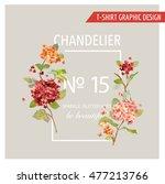 vintage floral graphic design   ...   Shutterstock .eps vector #477213766