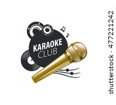 vector logo karaoke | Shutterstock .eps vector #477221242