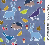 seamless pattern with... | Shutterstock .eps vector #477227692