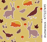 seamless pattern with... | Shutterstock .eps vector #477227695