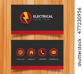 electric logo and business card ... | Shutterstock .eps vector #477230956