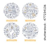 doodle vector illustrations of... | Shutterstock .eps vector #477234136