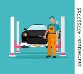 car repair shop concept... | Shutterstock . vector #477237715
