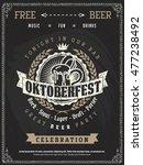 beer flyer vintage poster... | Shutterstock .eps vector #477238492