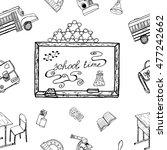 school time. hand drawn... | Shutterstock .eps vector #477242662