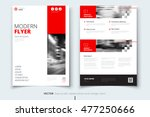 red flyer modern cover design.... | Shutterstock .eps vector #477250666