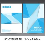 abstract blue technology cover... | Shutterstock .eps vector #477251212