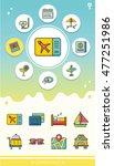icon set travel vector | Shutterstock .eps vector #477251986