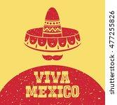 viva mexico  vector illustration   Shutterstock .eps vector #477255826