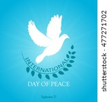 international peace day. peace... | Shutterstock .eps vector #477271702