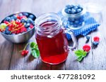 berries and compot | Shutterstock . vector #477281092