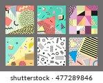 retro vintage 80s or 90s... | Shutterstock .eps vector #477289846