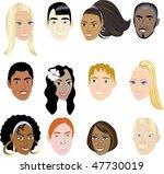 people faces 2. vector... | Shutterstock .eps vector #47730019
