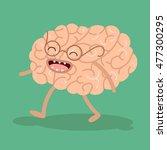 cartoon human organs. vector... | Shutterstock .eps vector #477300295
