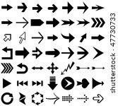 vector set of arrow shapes ... | Shutterstock .eps vector #47730733