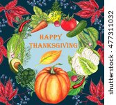 thanksgiving greeting card on... | Shutterstock . vector #477311032