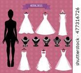 wedding bride.accessories and... | Shutterstock .eps vector #477316726