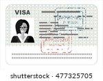 visa  flat illustration concept.... | Shutterstock .eps vector #477325705