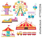 set of amusement park elements... | Shutterstock . vector #477332206