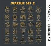 modern thin line icons set of... | Shutterstock .eps vector #477335302