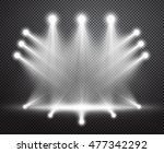Realistic Stage Lighting Vecto...