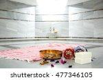 turkish spa massage area | Shutterstock . vector #477346105