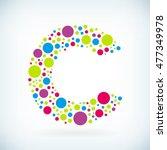 modern letter c circle stroke... | Shutterstock .eps vector #477349978