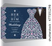 wedding invitation or card with ...   Shutterstock .eps vector #477351298