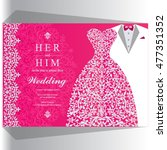 wedding invitation or card with ...   Shutterstock .eps vector #477351352