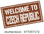 welcome to czech republic stamp.... | Shutterstock .eps vector #477357172