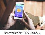 messaging communication... | Shutterstock . vector #477358222