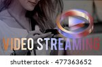 digital music streaming online...   Shutterstock . vector #477363652