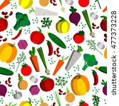 paper vegetables flat style... | Shutterstock .eps vector #477373228