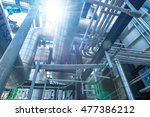 top floor of boiler or heat... | Shutterstock . vector #477386212