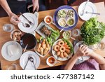 food catering cuisine culinary... | Shutterstock . vector #477387142