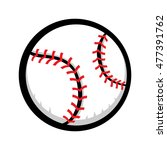 baseball graphic | Shutterstock . vector #477391762