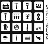 beer icons set in simple style. ... | Shutterstock .eps vector #477400525