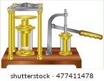hydraulic pump   Shutterstock .eps vector #477411478