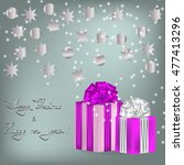 new year and christmas greeting | Shutterstock .eps vector #477413296