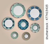 Set Of Plates With Elegant...