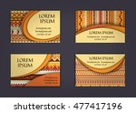 business card or visiting card... | Shutterstock .eps vector #477417196