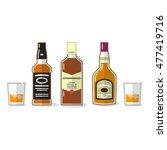 whiskey vector icons set.... | Shutterstock .eps vector #477419716
