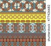 tribal seamless pattern.... | Shutterstock .eps vector #477426682