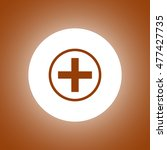 medical sign in glossy button  | Shutterstock . vector #477427735