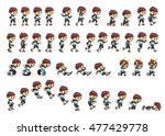 nimble  boy game sprites.... | Shutterstock .eps vector #477429778
