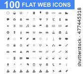 100 icon set. concept... | Shutterstock . vector #477445318