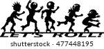 group of children roller... | Shutterstock .eps vector #477448195