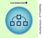 flow chart icon vector.. web...