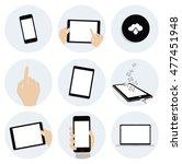 modern flat icons vector...   Shutterstock .eps vector #477451948