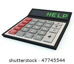 calculator with help text on... | Shutterstock . vector #47745544